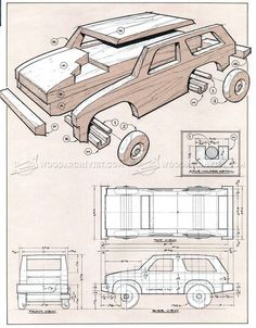 Wooden 4х4 Off Roader Plan - Wooden Toy Plans