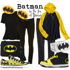 """Batman (DC Comics)"" by thejoyofdisney on Polyvore"