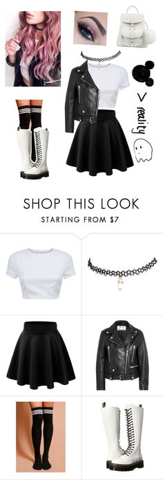 """Untitled #57"" by kawaii-o-o-gurl ❤ liked on Polyvore featuring AQ/AQ, Wet Seal, Acne Studios, Dr. Martens and Grafea"