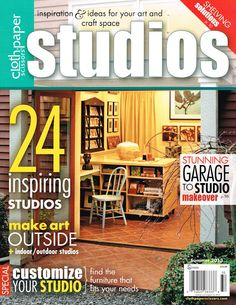 Studios magazine 2013 featured four Vashon artists and their studios.  Brian Fisher Studio on cover.