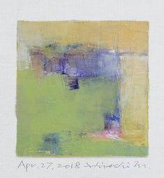 "Apr. 27, 2018 9 cm x 9 cm (app. 4"" x 4"") oil on canvas © 2018 Hiroshi Matsumoto www.hiroshimatsumoto.com"