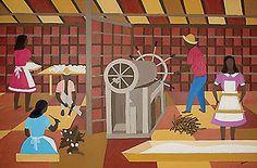Soraia Cals Escritório de Arte | maio 2012 | Leilão:Maio 2012  Título:Engenho Mandioca  Descrição: óleo s/ tela, ass. e dat. 1974 inf. dir.   97 x 146 cm