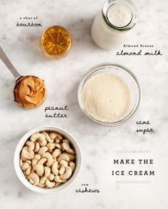 vegan peanut butter bourbon ice cream