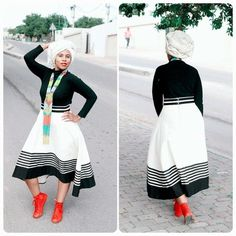 Photos of Traditional Xhosa Wedding Photos: South African + Traditional + Wedding + Dresses South African Traditional Dresses, African Traditional Wedding, Traditional Fashion, Traditional Outfits, Xhosa Attire, African Attire, African Wear, African Women, African Print Dresses
