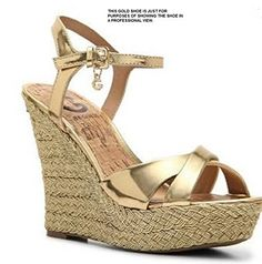 G by GUESS Debbra Sliver Metallic Wedge Sandal 85 <3 Locate the offer simply by clicking the image