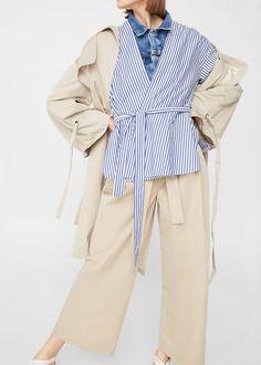 Bow belt trousers