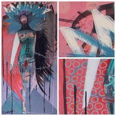 Final painting #artnerd2016 #contemporaryart #simonbuchp #denmark #popart #streetart #colours #creature #gallery #artwork #design #creative by simonbuchp.art