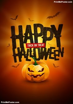 Happy Halloween Poster Design poster #poster, #printmeposter, #mousepad, #tshirt