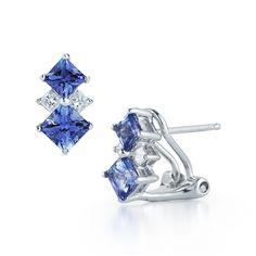14K White Gold Tanzanite and Diamond Earrings 1.74 TCW - http://www.tanzanite.com/product-p/tze26319.htm