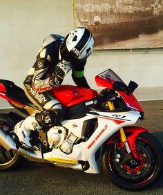 2015 Free Riding Time by Riding School Pedersoli @ Modena Circuit   Yamaha R1  Arlen Ness Xlite TCX Alpinestars
