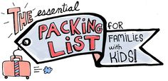 Great for family travel planning - free printable packing list for families traveling with kids