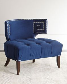 Shop Marmont Tufted Chair from Haute House at Horchow, where you'll find new lower shipping on hundreds of home furnishings and gifts. Tufted Chair, Chair Bed, Chair And Ottoman, Chair Cushions, Cheap Furniture, Home Furniture, Furniture Design, Navy Furniture, Furniture Chairs