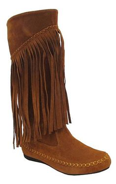 I still want a pair of these... Not this style tho... Fringe is too long.