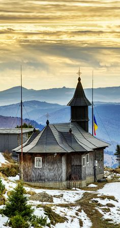 Traditional Wooden Muntain Church in Ceahlau Mountains, Eastern Carpathians, Romania - Discover Amazing Romania through 44 Spectacular Photos Beautiful Places To Visit, Places To See, Bulgaria, Places Around The World, Around The Worlds, Saint Marin, Monuments, Visit Romania, Temple Ruins