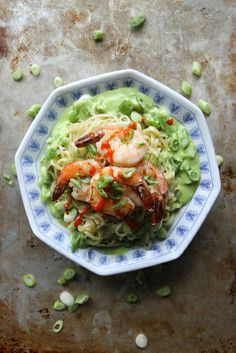 Stir Fried Rice Noodles with Shrimp and Green Onion Vinaigrette by Heather Christo, via Flickr