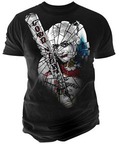 Break up your weekly rotation with the stylish design of this Suicide Squad T-shirt from Changes, crafted with soft cotton embellished with a Harley Quinn graphic print at the front. | Cotton | Machin