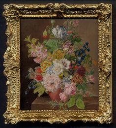 Bouquet, after van Dael, 18th C by Linda McBreen - $795.00 : Swan House Miniatures, Artisan Miniatures for Dollhouses and Roomboxes