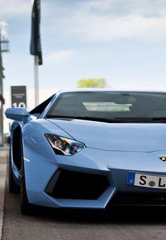 Light blue Lambo Aventador