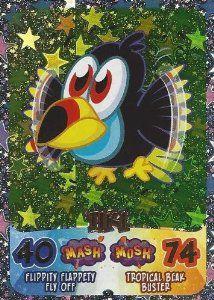 Moshi Monsters Moshling Madness Tiki Holographic Card #moshimonsters