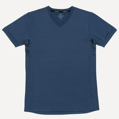 Short Sleeve Tee with Dry-Force In Blue | Frank & Oak