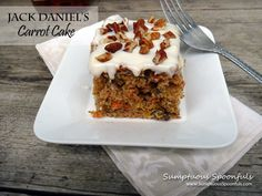Jack Daniel's Carrot Cake w Heavenly Frosting Cake Frosting Recipe, Frosting Recipes, Cake Recipes, Cooking With Jack, Cake Cookies, Cupcakes, Best Carrot Cake, Poke Cakes, Specialty Cakes