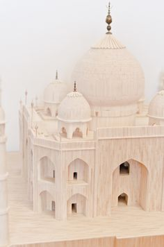 Matchstick model - Taj Mahal by Tibor Lakatos, via Behance