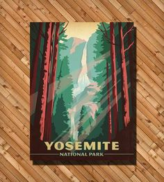 Yosemite National Park Print by Anderson Design Group on Scoutmob Shoppe
