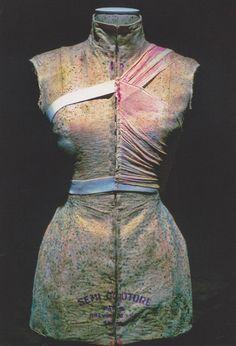 Martin Margiela, 9/4/1615 installation at Brooklyn Anchorage, New York, 1999 Bacteria growth on garments