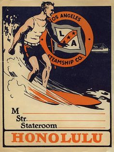 We like how text is incorporated into the vintage surf poster, giving opportunity for RSVP info.