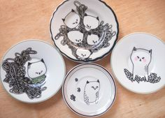 pretty little thieves: cat plates, via Gems