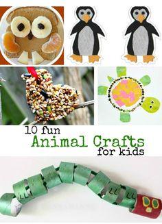 10 fun animal crafts for kids