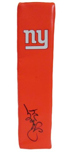"Ottis ""O.J."" Anderson signed NY Giants Rawlings football touchdown end zone pylon w/ proof photo. Proof photo of OJ signing will be included with your purchase along with a COA issued from Southwestconnection-Memorabilia, guaranteeing the item to pass authentication services from PSA/DNA or JSA. Free USPS shipping. www.AutographedwithProof.com is your one stop for autographed collectibles from New York sports teams. Check back with us often, as we are always obtaining new items."