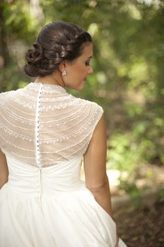 Bride in a stunning beaded top & strapless gown / Stephanie A Smith Photography