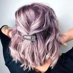 Purple hair is considered a fashion color and fashion colors have been making a scene lately. Whether its lavender, a medium purple, or a dark and mys. 2020 trends Purple Hair Color Ideas & Trends: Highlights, Styles and Hair Color Purple, Hair Dye Colors, Cool Hair Color, Short Purple Hair, Purple Bob, Purple Hair Highlights, Light Purple Hair, Purple Hair With Blonde, Short Colorful Hair