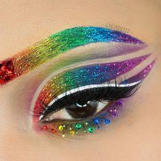 Glitter Rainbow Cat Eye