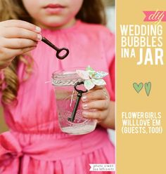 Love the idea of using old keys for bubble wands.