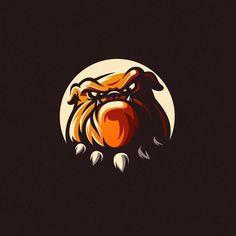 Bulldog by Modal Tampang Web Design, Graphic Design, Bulldog Mascot, Bulldog Logo, Sports Team Logos, Hockey Logos, Logo Process, Game Logo Design, Esports Logo
