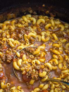 Beef Macaroni Soup – 12 Tomatoes Hamburger Macaroni Soup, Macaroni Soup Recipes, Beef Recipes, Cooking Recipes, Recipies, Easy Recipes, Vegan Recipes, Dinner Recipes, 12 Tomatoes Recipes