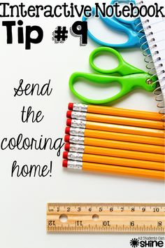 No time in class to color? Send it home. ~ Great idea!