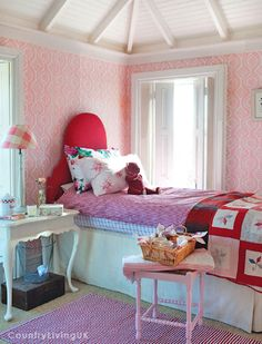 I can see Ella liking this room. I love the shutters on the window and the ceiling.