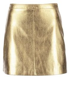 SHINY - Spódnica mini - gold