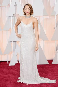 Carmen Ejogo in Houghton at the 2015 Academy Awards