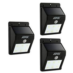AGPtek Solar Energy Powered 6 LED Bright Outdoor White Light / Motion Sensor Street PIR Lamp for Wall Garden Patio Yard Outside Wall Deck Driveway / Auto identify day or night (3 pack Black) https://solarlightsoutdoorlighting.info/agptek-solar-energy-powered-6-led-bright-outdoor-white-light-motion-sensor-street-pir-lamp-for-wall-garden-patio-yard-outside-wall-deck-driveway-auto-identify-day-or-night-3-pack-black/
