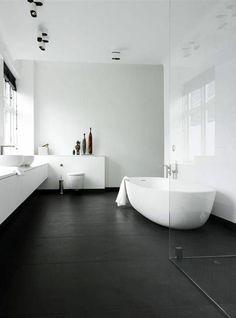 Modern bathroom walls dark floor decoration