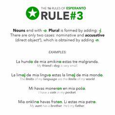 esperanto: rule 3