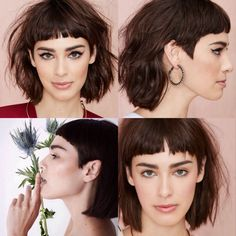 Hair Inspiration- Margaux Brooke - New Site Short Textured Hair, Short Dark Hair, Short Hair Cuts, Short Bangs, Short Shag Hairstyles, Edgy Haircuts, Short Hairstyles For Women, Hair Day, New Hair