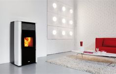 Pellet Boiler Stove to heating system; 4 kW to room