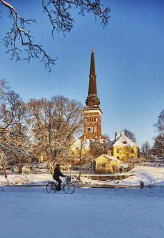 150123-123, Domkyrkan, vinter i Västerås