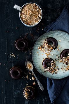 Chocolate and Pecan Donuts | Carnets Parisiens