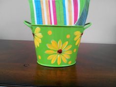 Decortive Hand Painted Enamel Tin by krystasinthepointe on Etsy, $10.00